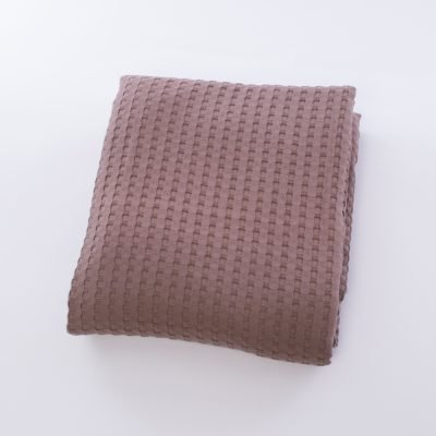 Κουβέρτα Πικέ Σοκολά